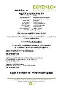 ügyfélfogadási plakát Vas megye 2017.02