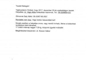 Tájékoztató 2- Dr. Koczor Gábor szabadság